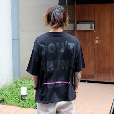 画像2: 【CS限定カラー】isxnot イズノット ALIVE Tシャツ BLACK/BLACK