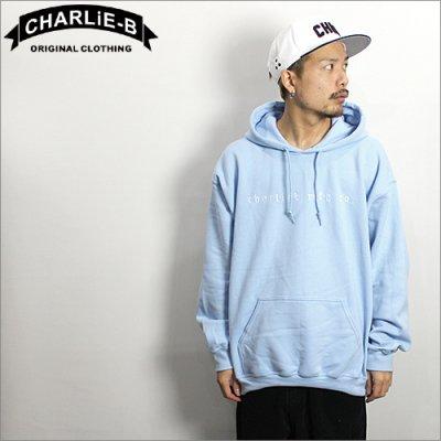画像1: 【送料無料】 CharlieB チャーリービー EMB P/Oパーカー L.BLUE