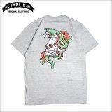 CharlieB チャーリービー Skull & Snake Tシャツ GRAY