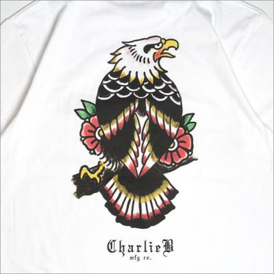 画像4:  CharlieB チャーリービー Eagle II Tシャツ WHITE