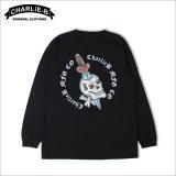 CharlieB チャーリービー Skull Dagger L/S Tシャツ BLACK