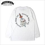 CharlieB チャーリービー Skull Dagger L/S Tシャツ WHITE