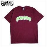 CAPTAIN STREET PRDT II Tシャツ BURGUNDY キャプテンストリート