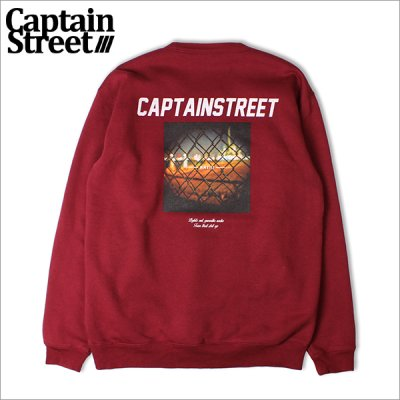 画像1: 【送料無料】CAPTAIN STREET Guerrilla クルーネックスウェット BURGUNDY キャプテンストリート