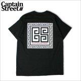 CAPTAIN STREET Paisley RMN Tシャツ BLACK キャプテンストリート