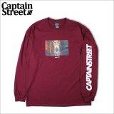 CAPTAIN STREET Gate L/S Tシャツ BURGUNDY キャプテンストリート