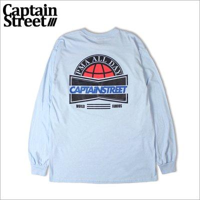 画像1: CAPTAIN STREET US L/S Tシャツ L.BLUE キャプテンストリート