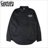 【送料無料】CAPTAIN STREET FO L/Sワークシャツ BLACK キャプテンストリート