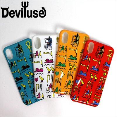 画像1: 【40%OFF】Deviluse デビルユース Hieroglyphic iPhoneケース X/XS対応 4カラー