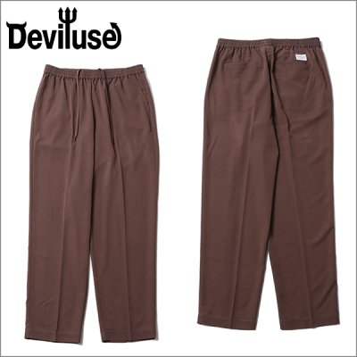 画像1: 【送料無料】Deviluse デビルユース Slacks パンツ BROWN