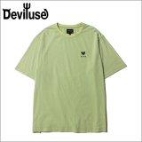 Deviluse デビルユース Heartaches Stone Wash Tシャツ SEA GREEN