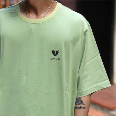 画像3: Deviluse デビルユース Heartaches Stone Wash Tシャツ SEA GREEN