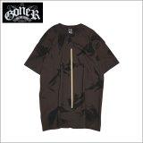 GoneR ゴナー Tie-dye Line Tシャツ D.CHOCOLATE