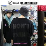 【CS限定カラー】isxnot イズノット ALIVE Tシャツ BLACK/BLACK