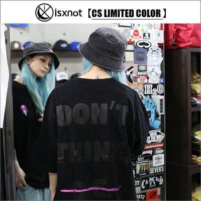 画像1: 【CS限定カラー】isxnot イズノット ALIVE Tシャツ BLACK/BLACK