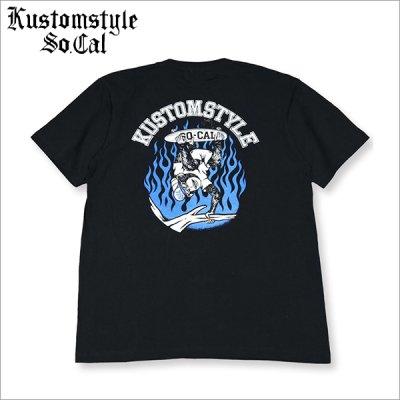 画像1: KustomStyle カスタムスタイル SKATE MONKEY Tシャツ BLACK