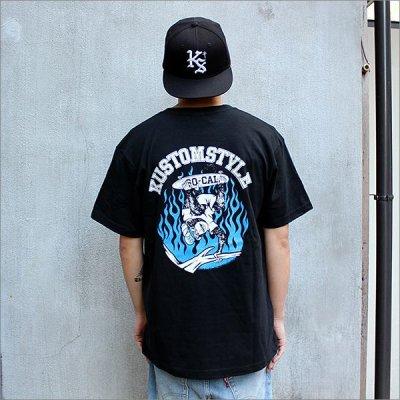 画像2: KustomStyle カスタムスタイル SKATE MONKEY Tシャツ BLACK