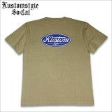KustomStyle カスタムスタイル MOTOR COMPANY Tシャツ KHAKI