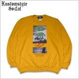 【送料無料】KustomStyle カスタムスタイル BROWNYARD&SUNSHINE クルーネックスウェット GOLD