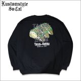 【送料無料】CHEYENNE by KUSTOMSTYLE TACOS IN THE HOOD クルーネックスウェット BLACK