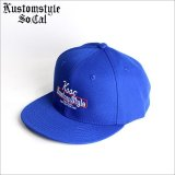 KustomStyle カスタムスタイル THE WAY WE ARE スナップバックCAP ROYAL BLUE