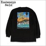 KustomStylexUSVERSUSTHEM カスタムスタイル PICTURE ME ROLLIN L/S Tシャツ BLACK