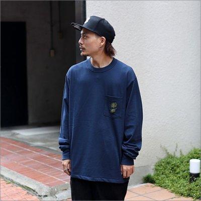画像2: 【送料無料】KustomStyle カスタムスタイル ROSE KSSC ポケットL/S Tシャツ NAVY