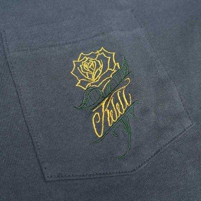 画像3: 【送料無料】KustomStyle カスタムスタイル ROSE KSSC ポケットL/S Tシャツ NAVY
