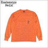 【送料無料】KustomStyle カスタムスタイル ROSE KSSC ポケットL/S Tシャツ ORANGE