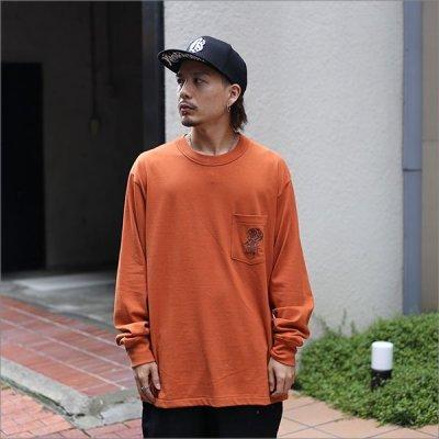 画像2: 【送料無料】KustomStyle カスタムスタイル ROSE KSSC ポケットL/S Tシャツ ORANGE