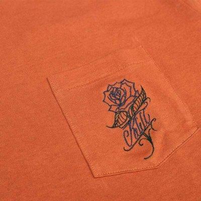 画像3: 【送料無料】KustomStyle カスタムスタイル ROSE KSSC ポケットL/S Tシャツ ORANGE
