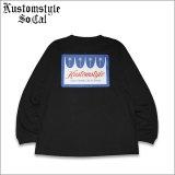 KustomStyle カスタムスタイル PALMS L/S Tシャツ BLACK