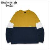 【送料無料】KustomStyle カスタムスタイル ORIGINALS L/S Tシャツ MUSTARD