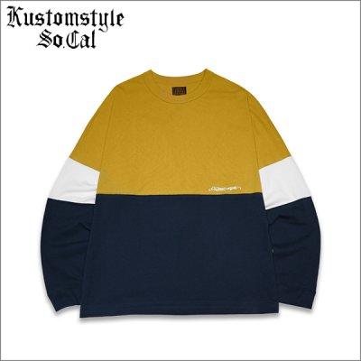 画像1: 【送料無料】KustomStyle カスタムスタイル ORIGINALS L/S Tシャツ MUSTARD