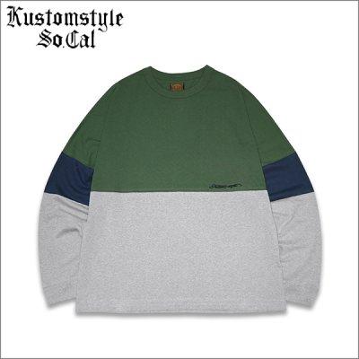 画像1: 【送料無料】KustomStyle カスタムスタイル ORIGINALS L/S Tシャツ GREEN