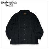 【送料無料】KustomStyle カスタムスタイル LONGROOF L/Sキューバシャツ BLACK