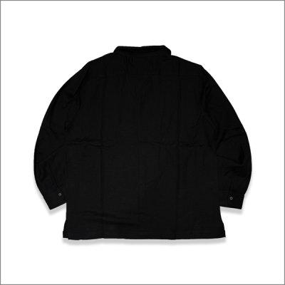 画像2: 【送料無料】KustomStyle カスタムスタイル LONGROOF L/Sキューバシャツ BLACK