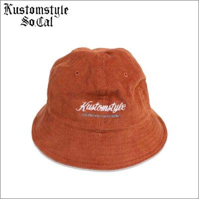 画像1: KustomStyle カスタムスタイル PALMS コーデュロイ ボウルハット ORANGE