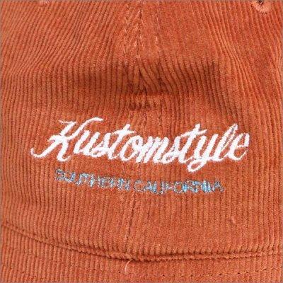 画像2: KustomStyle カスタムスタイル PALMS コーデュロイ ボウルハット ORANGE