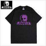 SKULL SKATES スカルスケーツ Tシャツ BLACKxPURPLE